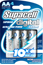 Supacell Digital Alkaline Batteries