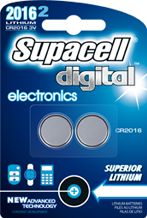 Supacell electronic button cell batteries