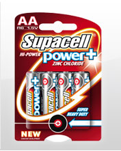 Supacell zinc chloride AA batteries pack